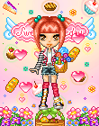 pixel-candy girl by ReZieDue