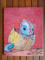 Baby dragon ceramic tile by EleCeramiche