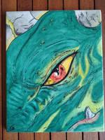 Green dragon eye ceramic tile by EleCeramiche