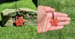 Red ceramic star pendant by EleCeramiche