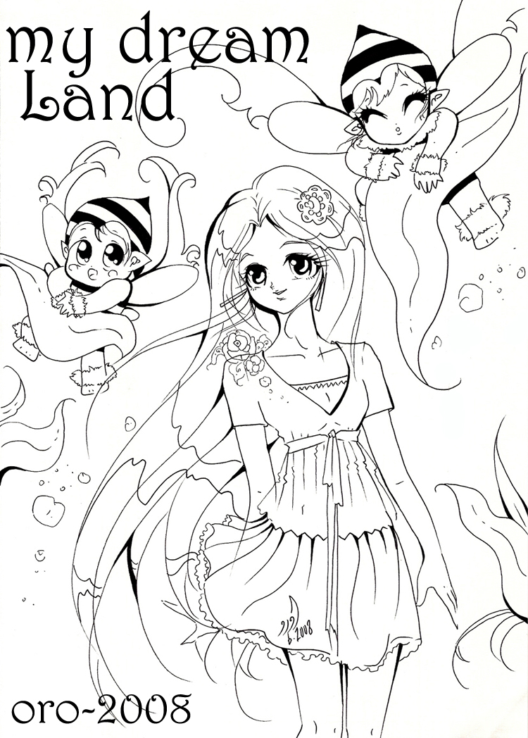 colouring page 4 my dream land by orjoowan art - Colouring Prints