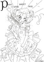 colouring page 6   PAINT by orjoowan-art