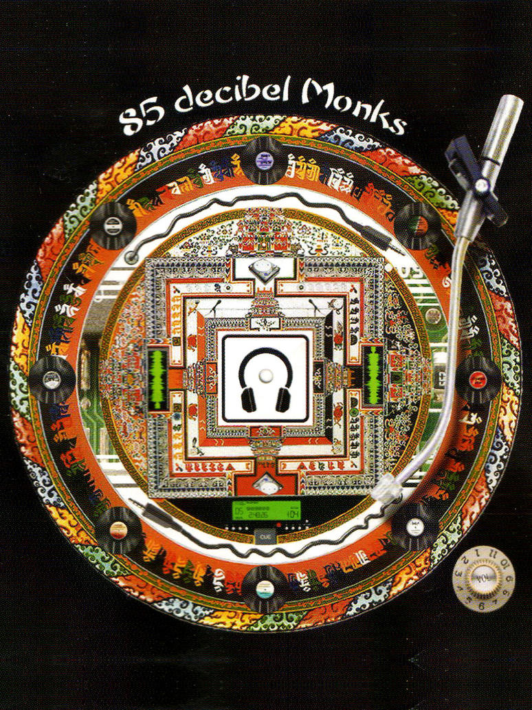 The 85 Decibel Monks CD Cover by CHR15T0PH3L35