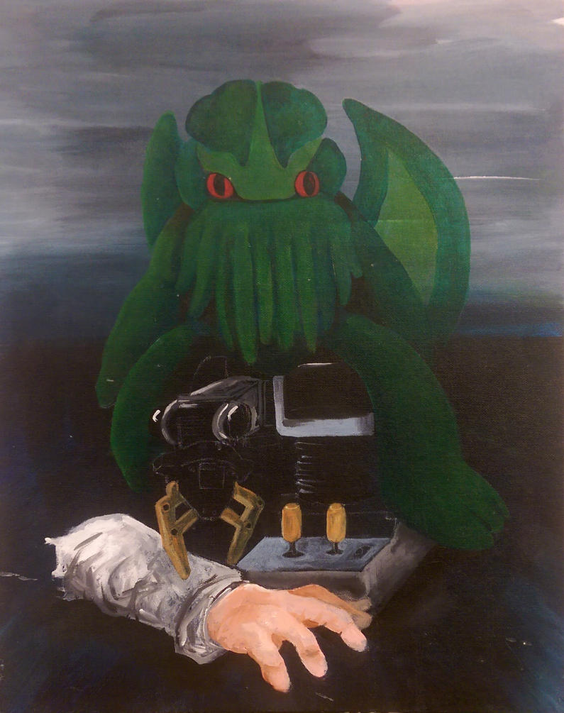 Plush Cthulhu, Armatron, Zombie Hand Still Life by CHR15T0PH3L35