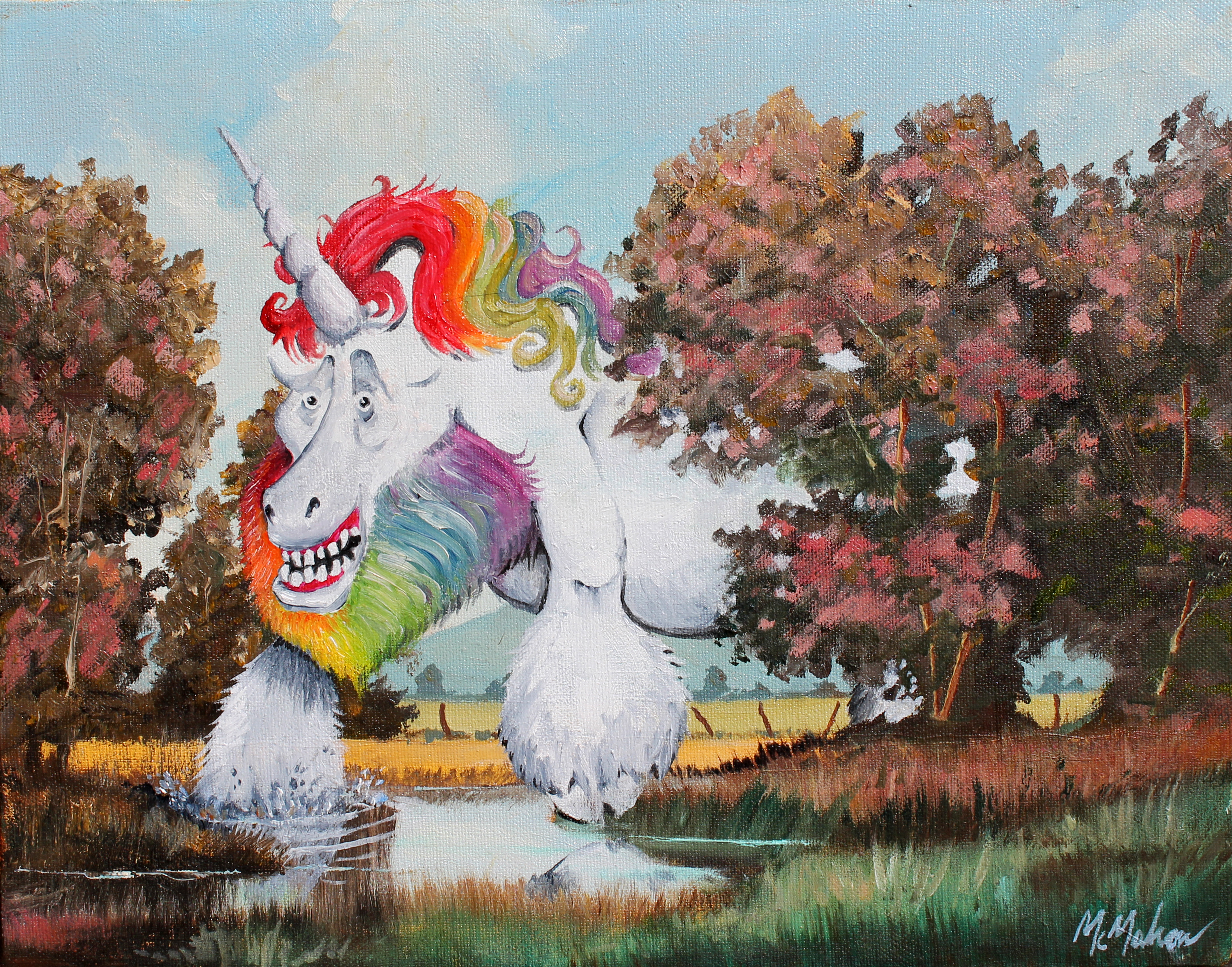 Behold the Majesty of the Juvenile Squatchicorn...