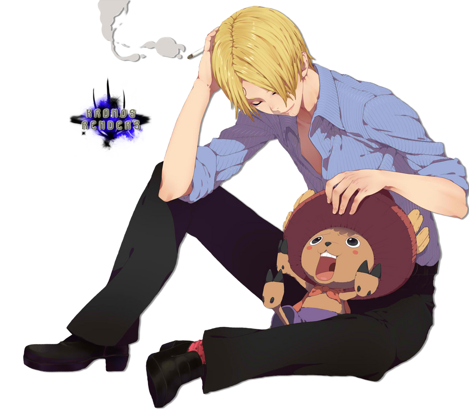 Sanji and Chopper Render by xKronos