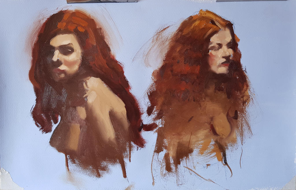 Oil painting from live with master lesson by Ares777