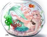 Mermaid in a fishbowl