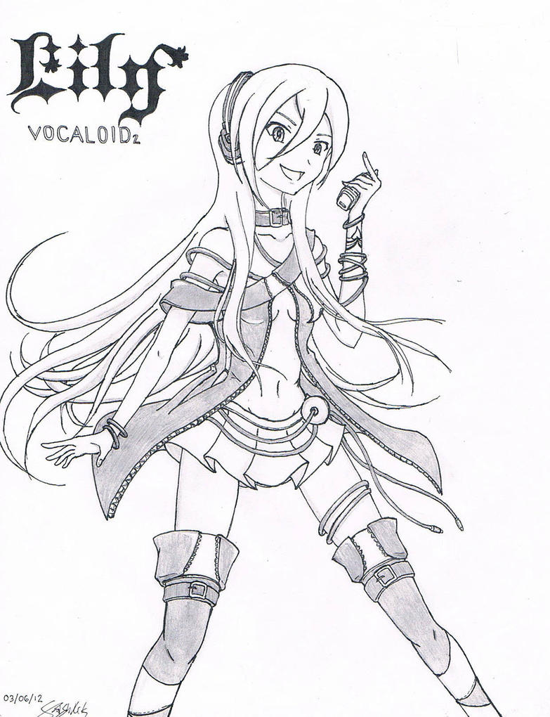 vocaloid Colouring Pages (page 2)