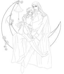 Fly me to the Moon - Lineart