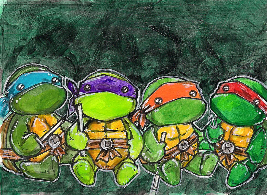 plush ninja turtles by sleepypig29