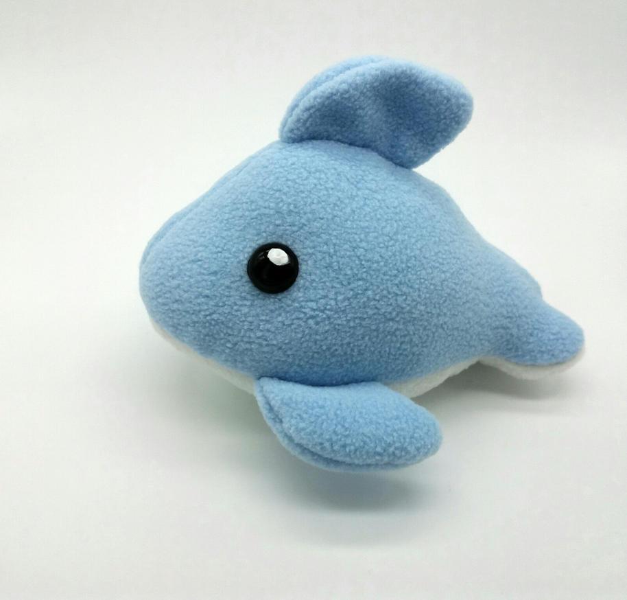 Chibi Dolphin Plushie by Gemlettuce