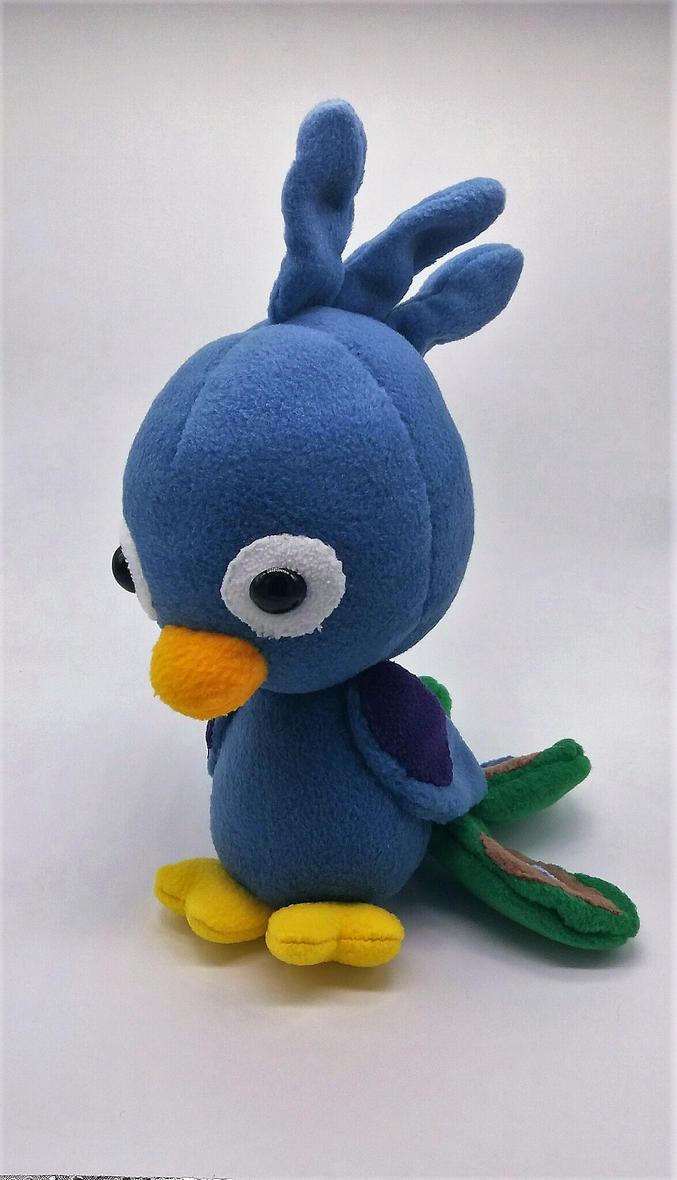 Chibi Peacock Plushie by Gemlettuce