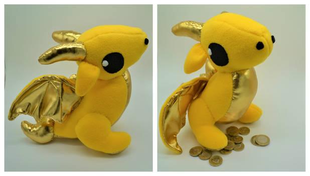 Gold and Yellow Wyvern Plush Dragon