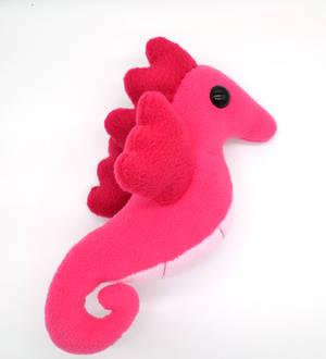 Chibi Pink Seahorse Plush