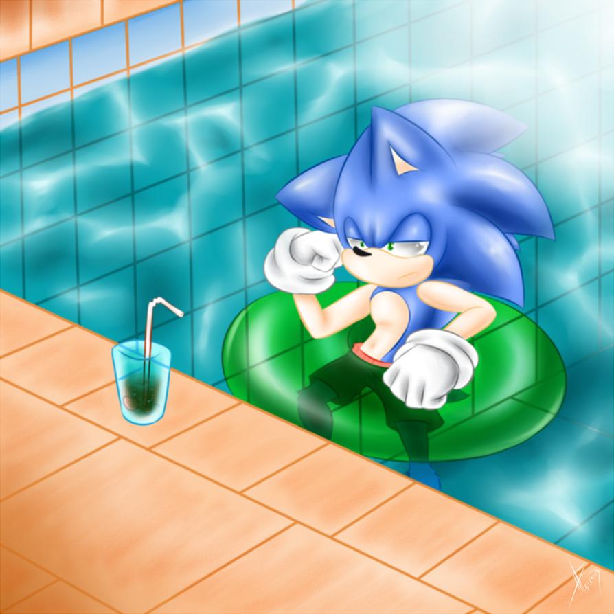 Sonic's swimming lesson by FeralSeraph on DeviantArt