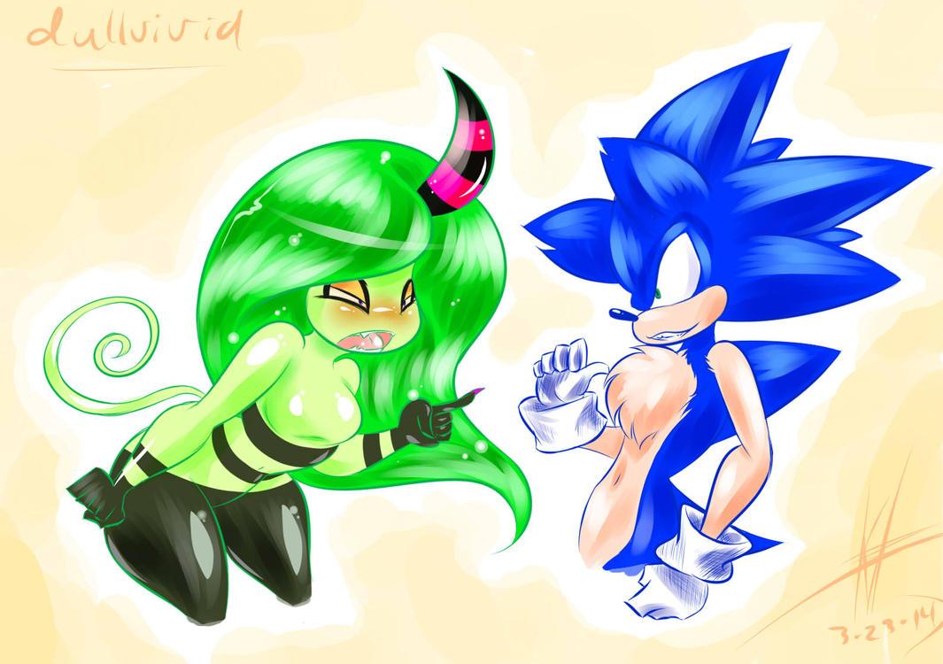 Sonic Vs Zeena by DullVivid