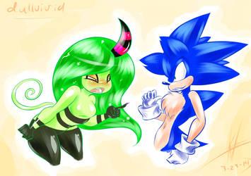Sonic Vs Zeena by Fluffernubber