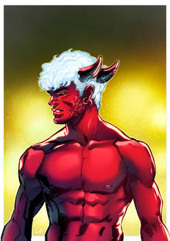 Red with horns!