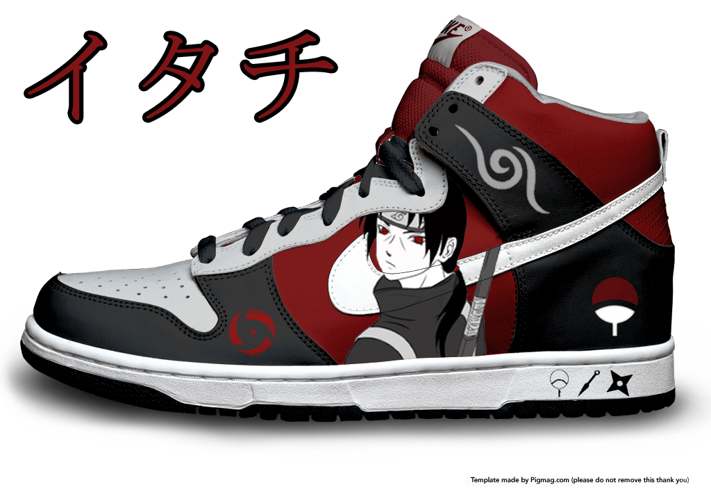 Uchiha Itachi Nike Dunks by Azrael-Haze on DeviantArt