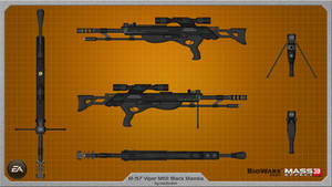 M-97 Viper MKII Black Mamba by rex3cutor