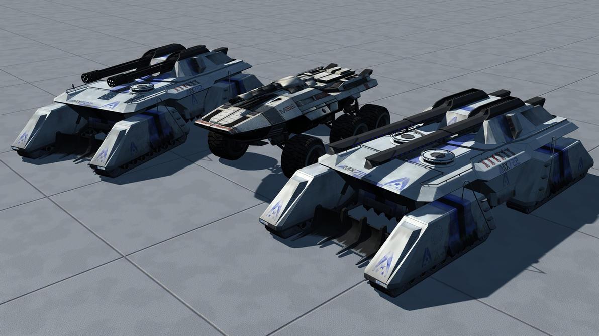 Mass Effect 3 Vehicles: MX722 Tigershark MBT By Rex3cutor On DeviantArt