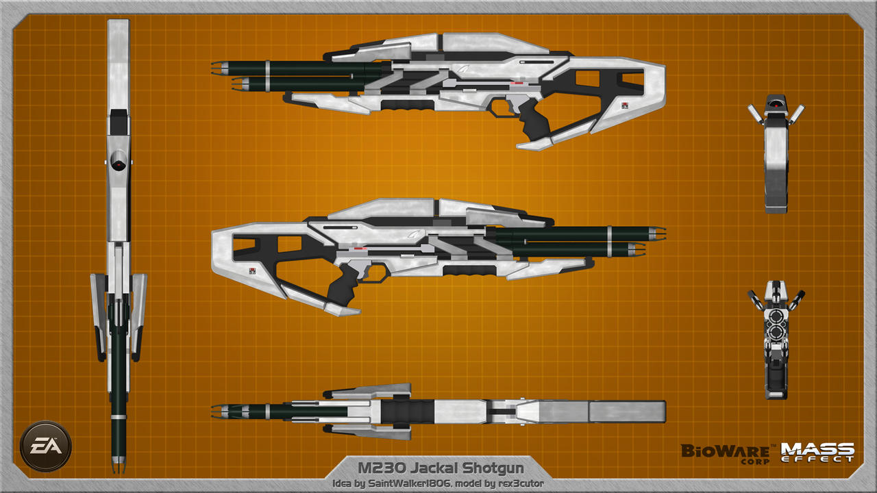 M230 Jackal Shotgun by Saintwalker1806 - wallpaper by rex3cutor