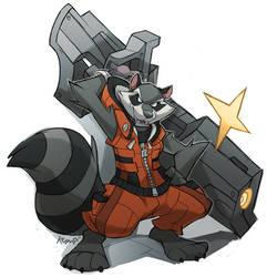 Rocket Raccoon by DrawingKuma