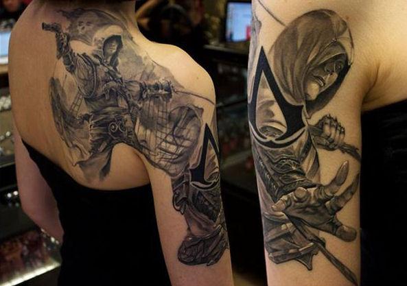 assassin 39 s creed tattoo by hellchen317 on deviantart