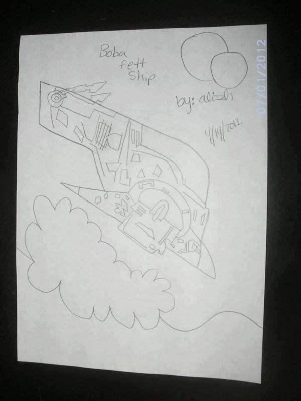 Boba Fett ship by femshepLiara1993