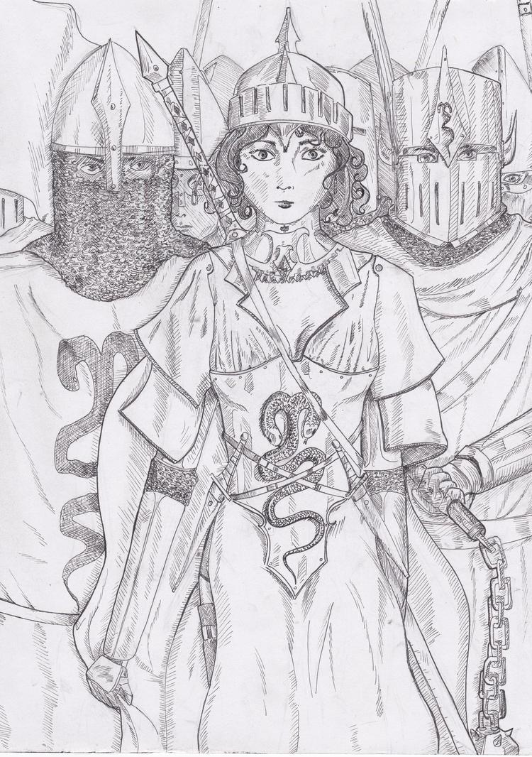 girl warrior by Vanilla-Kawaii