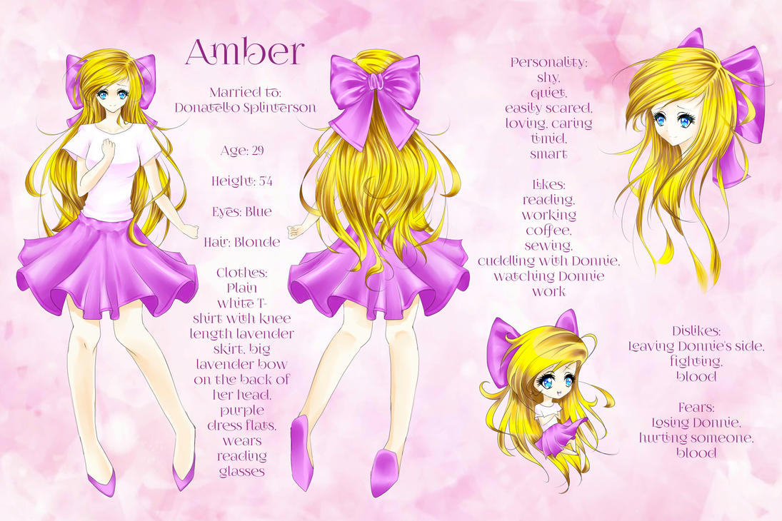 Commission ~ Amber OC reference by LunardreamerEmy