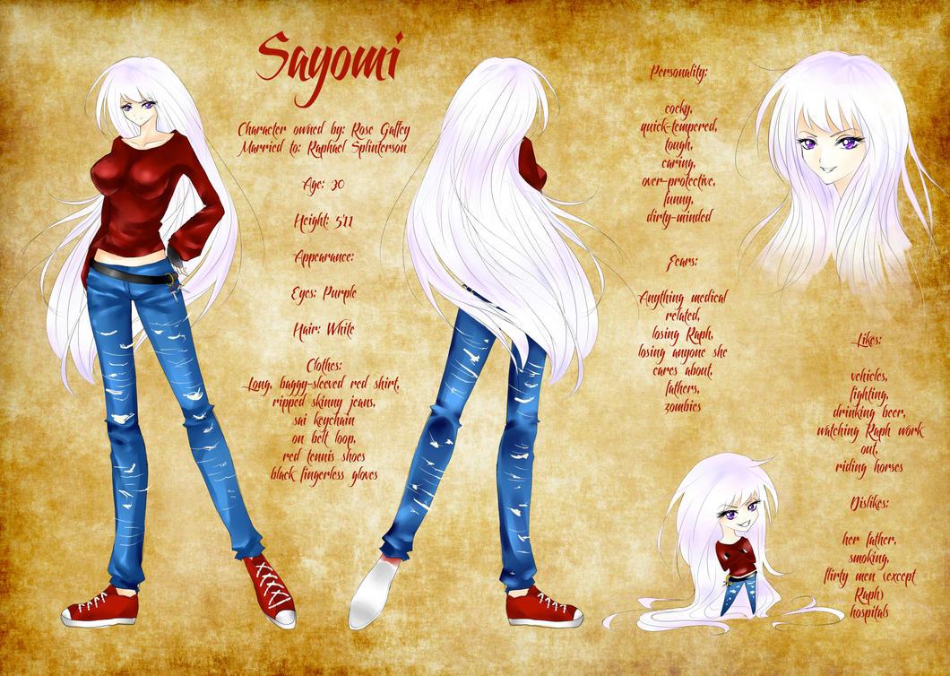 Comission ~ Sayomi OC Reference by LunardreamerEmy
