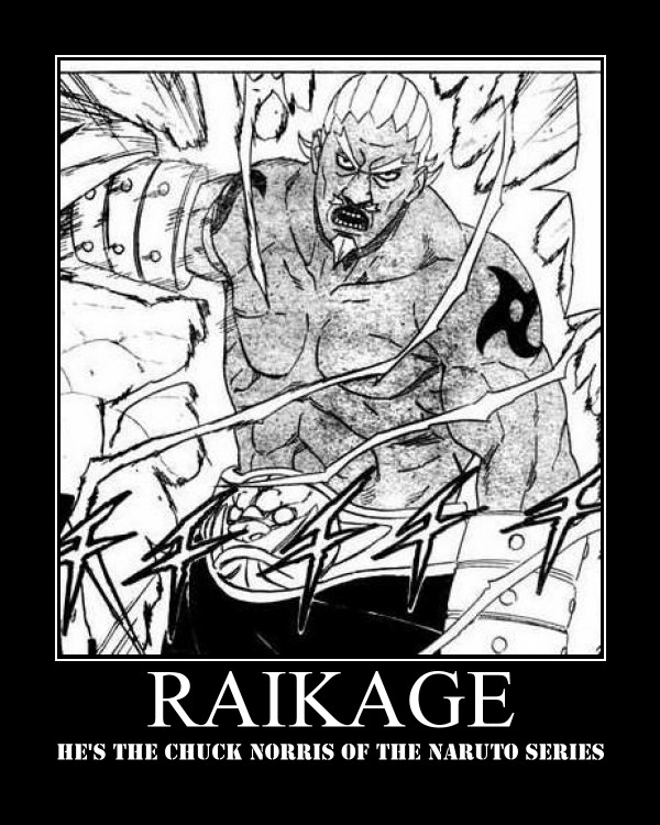 Raikage Motivational Poster by DarkKnightOfShadows
