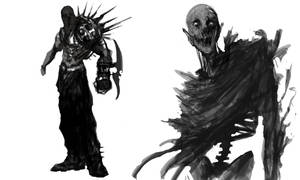 Executioner and zombie