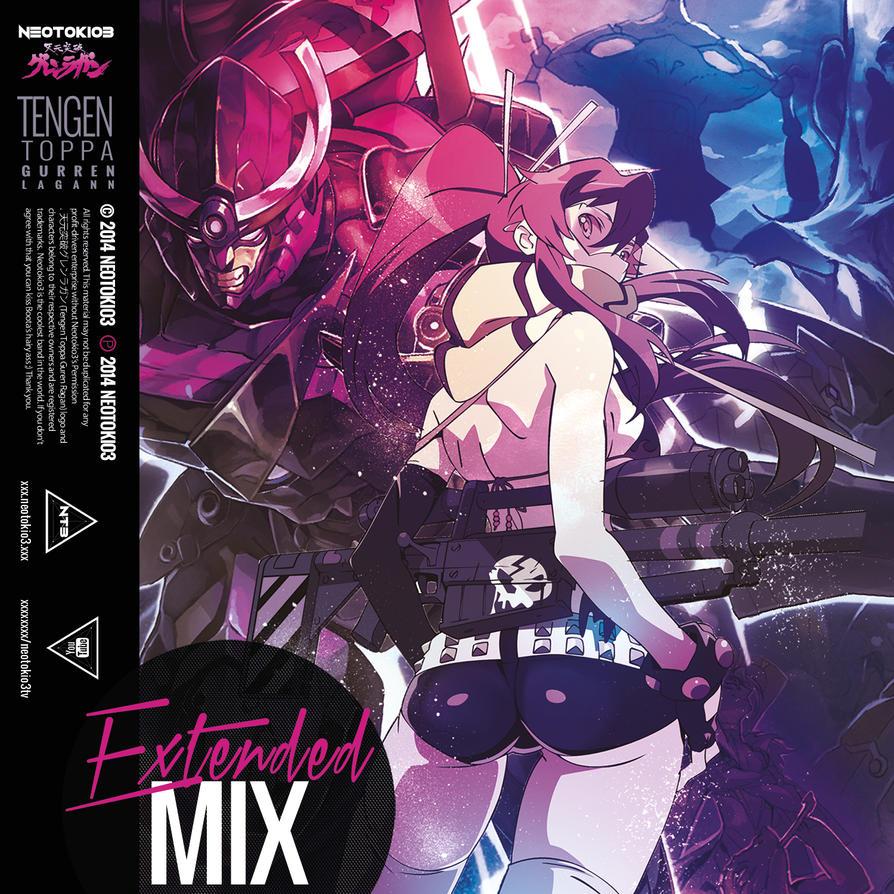 Neotokio3 Gurren Lagann-Extended Mix CD COVER by NinaEva01ngeline