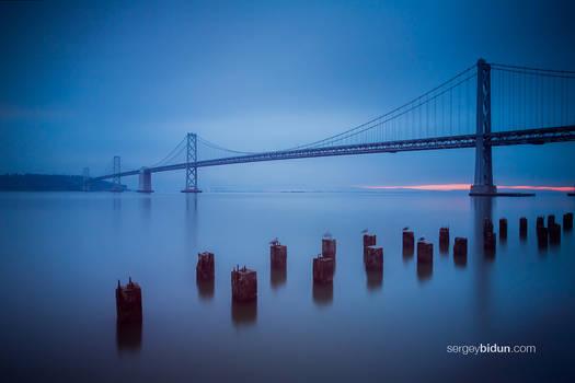 Early sunrise at Bay Bridge
