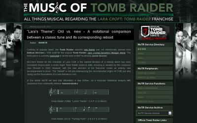 The Music of Tomb Raider Blog Design by VikingWasDead