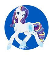 Rainbow Power - Rarity by FuyusFox