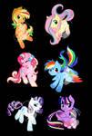 Chibi Rainbow Power Designs