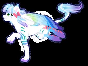 Commission - Rainbow Power Spud by FuyusFox