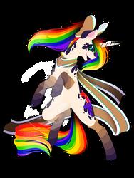 Commission - Rainbow Power Inky Bright by FuyusFox