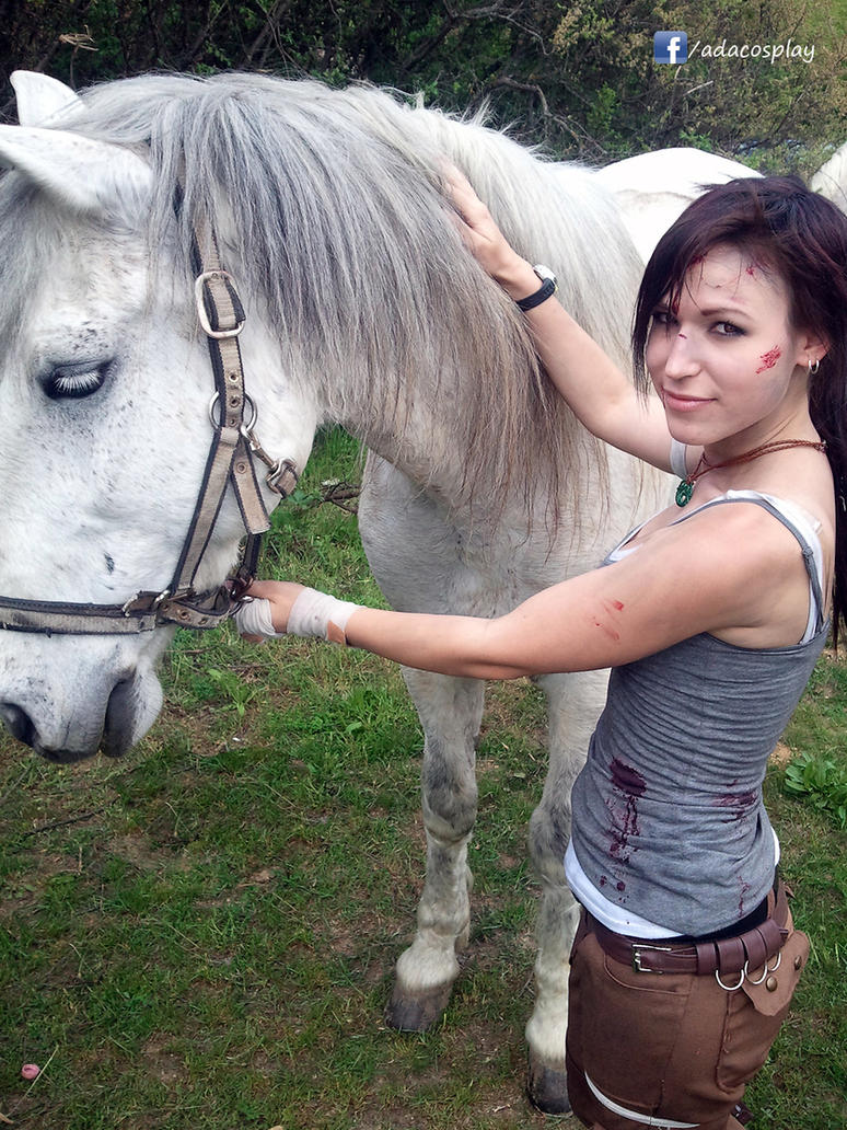 Lara With Hors