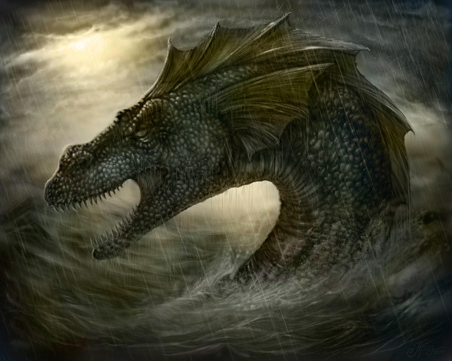Sea Serpent by TamplierPainter