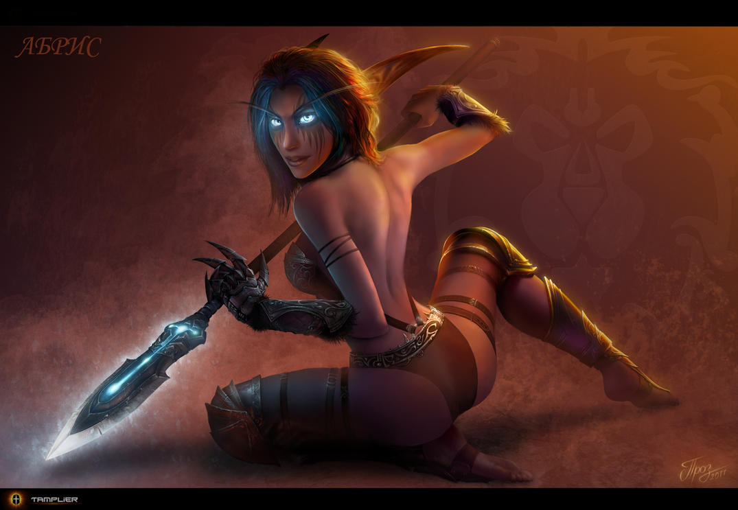 WoW female elf fanart porn images