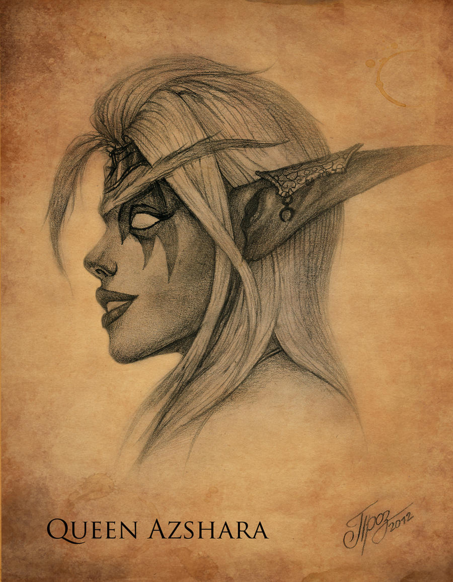 Queen Azshara - Sketch by TamplierPainter