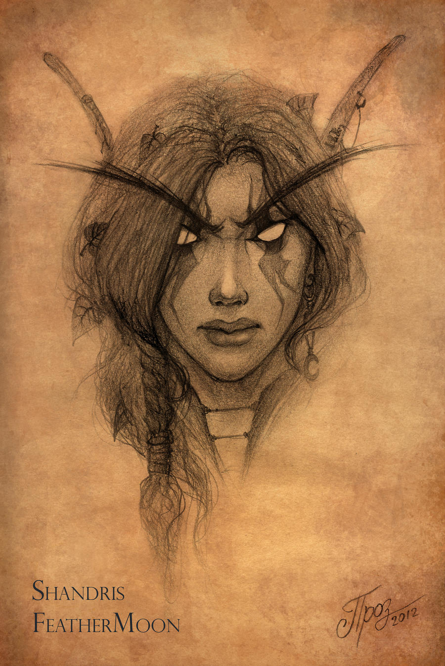 Shandris FeatherMoon - Sketch by TamplierPainter