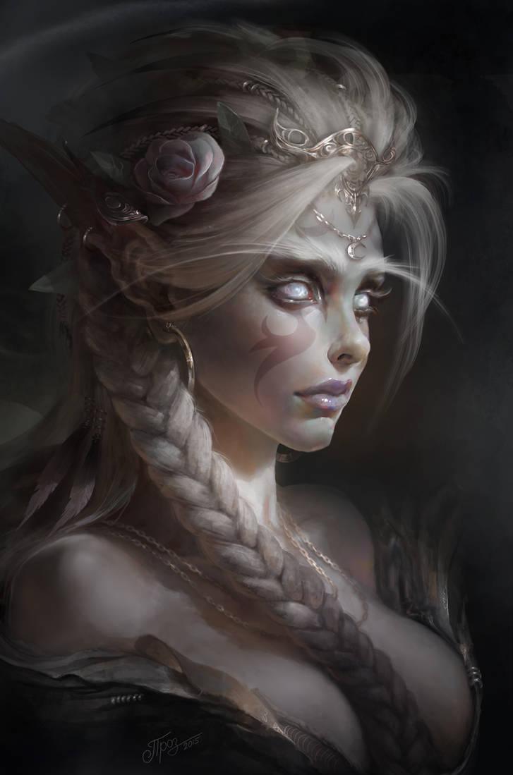 White Priestess by TamplierPainter