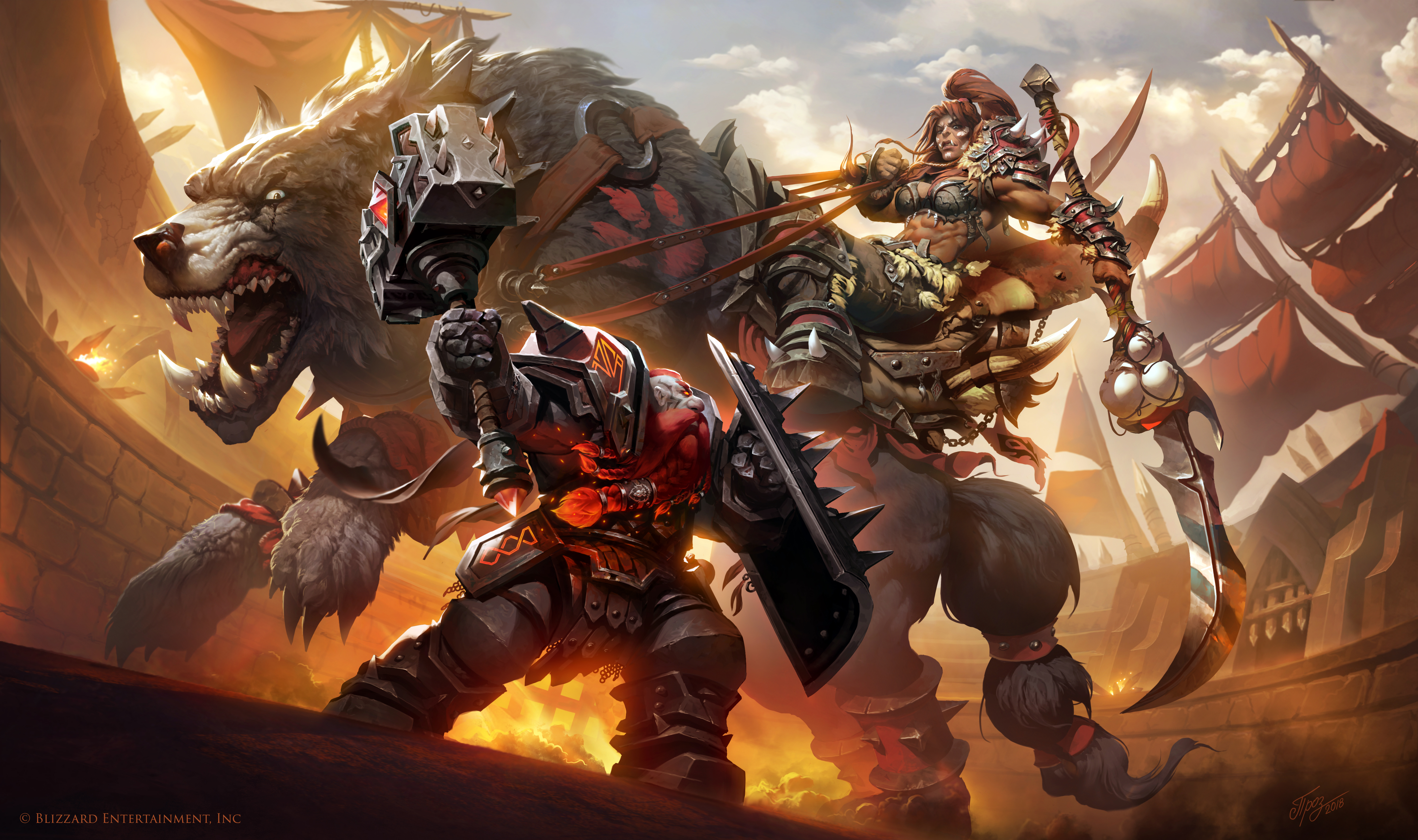 Maghar Orc Vs Dark Iron Dwarf By Tamplierpainter On Deviantart
