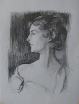 Study aftet Sargent' Mrs. Richard D. Sears portrai